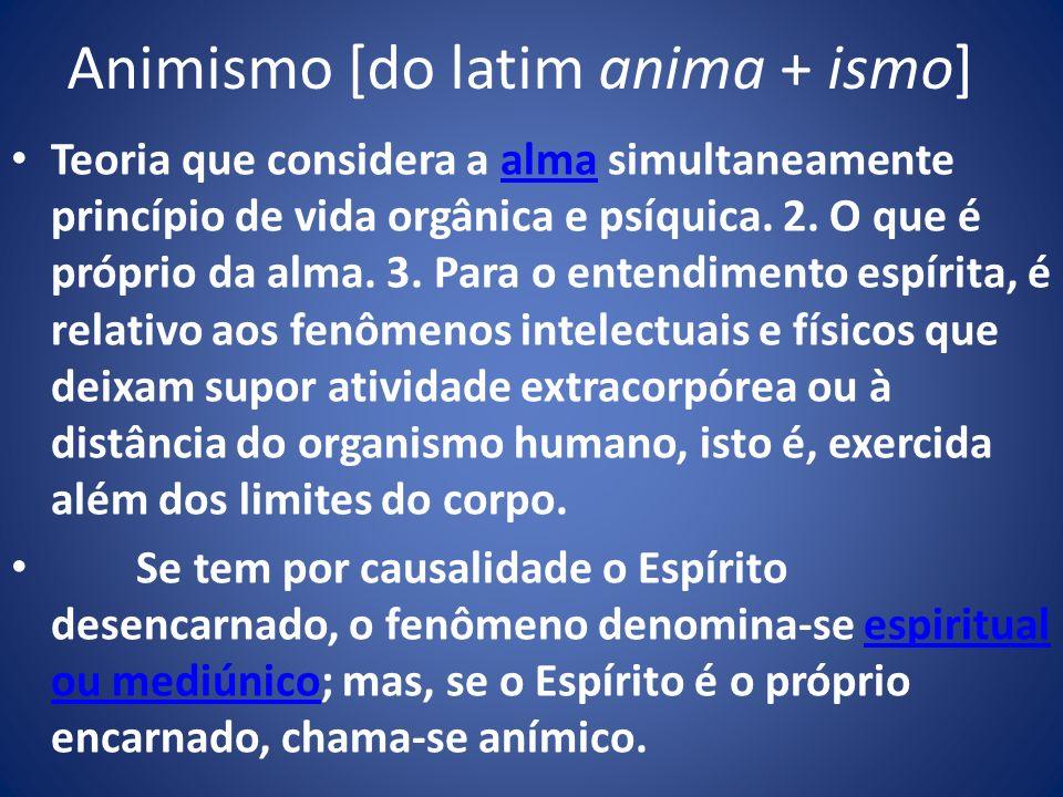 Animismo [do latim anima + ismo]